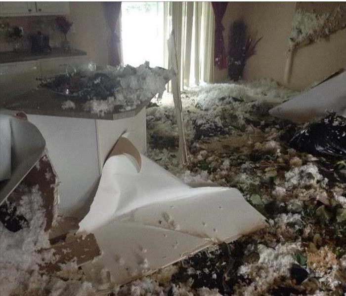 Storm Wreaks Havoc on a Hall Park Home Before
