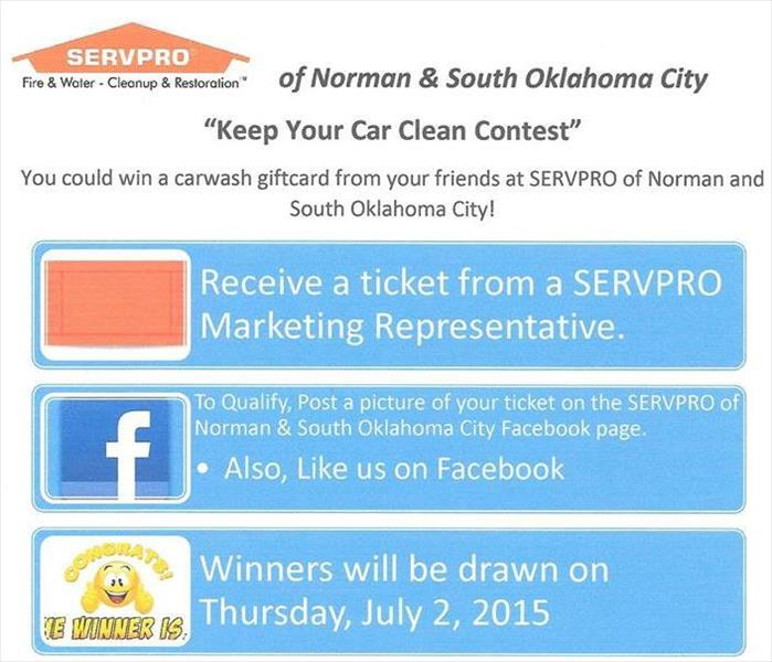 "Cleaning SERVPRO ""Keep Your Car Clean"" Contest"